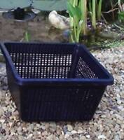 4 Large 19cm new square plastic aquatic pots baskets for water plants and pond