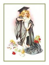 Maud Humphrey Bogart's Girl Child Play Graduation Counted Cross Stitch Chart