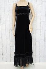 JONES ❤ Abendkleid Damen Gr. 40 Plüsch Lang Festlich Dress Robe Schwarz Black