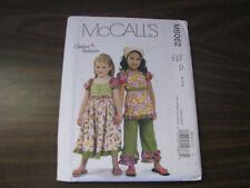 McCALLS  PATTERN #6062 GIRL'S SZ 6-8 RUFFLE TOP DRESS CAPRI'S NEW
