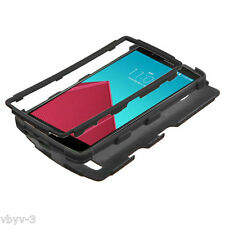 For LG G4 Hybrid ShockProof Rugged Rubber TUFF Hard Protective Black Case Cover