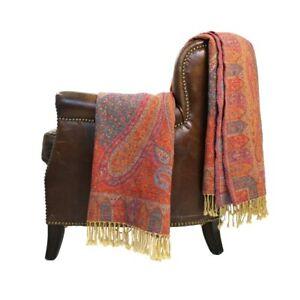 Melange Home Marrakesh Paisley Wool Jacquard Throw