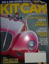 Kit Car Magazine January 2006 Milt Brown's Monza Spyder
