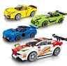 Sembo 607005-607008 Bausteine Racing Auto 4Set Kinder Figur Spielzeug Modell