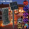 50 LED Solar Power String Fairy Light Xmas Party Outdoor Garden Tree Decor Lamp
