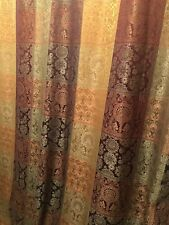 Designer Luxury Rich Earth toned  FABRIC SHOWER CURTAIN