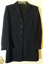 NWT ST MICHAELS FROM MARKS & SPENCER WOMENS LADIES NAVY LONG COAT SIZE 8 T228