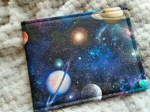 Disabled Blue badge holder wallet cover SPACE PLANETS fabric safe 4 Hologram
