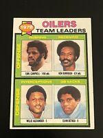 1979 Topps Oilers Team Leaders #301 Earl Campbell
