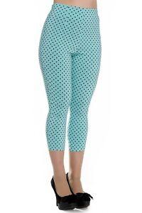 Hell Bunny Kay Polka Dot 50s Vintage Style Capri Trousers 3/4 Pedal Pushers