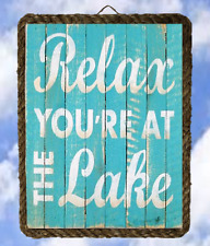 Lake 23 Relax Your At The Lake lalarry Lake Decor Art Wood Signs Fishing framed