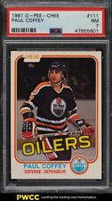 1981 O-Pee-Chee Hockey Paul Coffey ROOKIE RC #111 PSA 7 NRMT