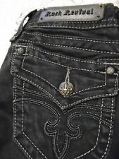"""ROCK REVIVAL JEANS Buckle Women's Size 27 / 33 """"Jen"""" Skinny Jeans Black VGC"""
