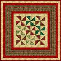 """FIRST NOEL - 68"""" - Christmas Pre-cut Patchwork Quilt Kit by Quilt-Addicts Lap"""