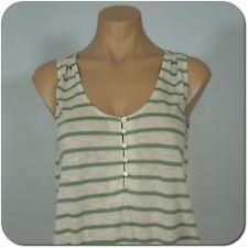GAP Women's Striped Sleeveless Top, Elastic Waist with Tie, size S (NEW)