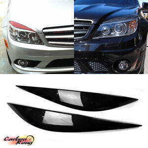 Fit For Mercedes BENZ C-Class W204 Sedan Front Headlight Cover Eyelids Eyebrows