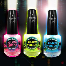 Mia Secret Glow In The Dark Lacquer Nail Polish Set of 3 - 0.5 Oz Bottles NEW