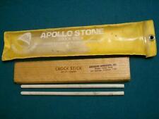 VINTAGE APOLLO STONE USA SHARP CERAMIC CROCK STICK KNIFE SHARPENING HONE ROD SET