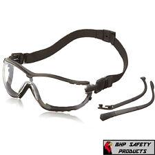 Pyramex V2g Safety Glasses Goggle Hybrid Clear Anti Fog Lens Gb1810st Ansi Z87