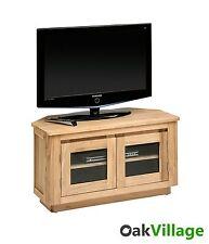 Solid Oak Corner TV Stand / Plasma TV Unit / Modern Living Room / Brand New Soho