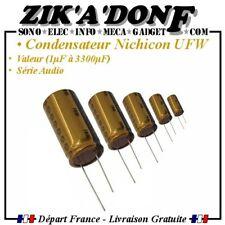 """10 Pcs Nichicon FG UFG /""""Fine Gold/"""" Muse 50 V 22uF Haute Qualité Audio condensateurs"""