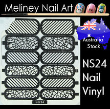 NS24 Chattered Glass Nail Vinyl Sticker decoration Stencil Vinyls Art Lines
