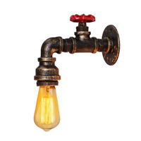 Loft Industrial Wall Pipe Lamp Retro Light Steampunk Vintage Wall Sconce Iron