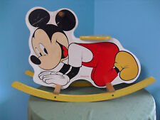 New listing Vintage American Toy And Furniture Inc Disney Mickey Mouse Rocker Rocking Horse