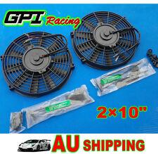 "2pcs 10"" inch 12V Universal Electric Radiator Intercooler Fan + mounting kit"