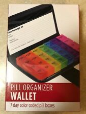 New 1-7 day daily pill organizer planner prescription box case organizer 7 boxes