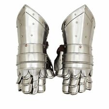 Medieval Gauntlets Armor Metal Plate Pair Gloves Knight Reenactment SCA LARP