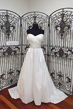 S273W CARAMIA 29212 SZ 16 IVORY $1175 FORMAL BEADED STRAPLESS WEDDING DRESS GOWN