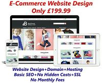 WordPress E-Commerce Website Design Domain & Hosting Included Custom Website
