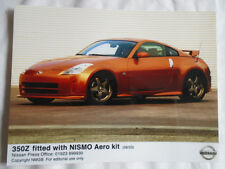 Nissan 350Z fitted with NISMO Aero kit press photo Aug 2003