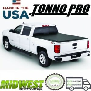 Tonno Pro Roll Up Tonneau Cover For 2015-2019 Chevrolet Silverado 3500 HD 8' Bed