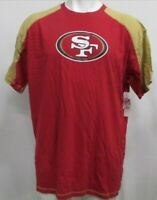 San Francisco 49ers NFL Men's Short Sleeve Raglan T-Shirt Red Gold