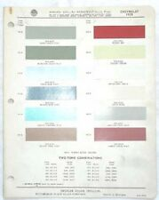 1959 CHEVROLET PPG COLOR PAINT CHIP CHART ALL MODELS