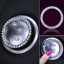 Car Engine Start Stop Push Button Knob Key Switch Decor Bling Ring Trim Shining