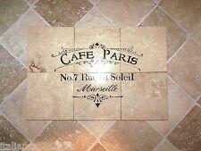 "French Country CAFE' PARIS Kitchen Backsplash 100% Travertine Tiles 24"" x 24"""