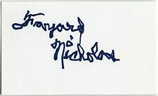 FAYARD NICHOLAS SIGNED AUTOGRAPHED 3x5 INDEX CARD SIGNATURE ORIGINAL PROOF