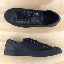 Converse Jack Purcell Signature Ox Low Top Triple Black Shoes 162596C Size 13