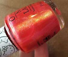 NEW! OPI NAIL POLISH Nail Lacquer SAY HELLO KITTY! ~ Hot Magenta Flecked Shimmer