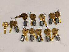 11 CompX Timberline Removable LOCK PLUGS w/Keys Polished Nickel Keyed Alike