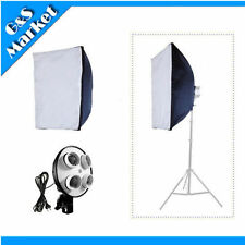 """Photography 50*70cm(20""""*28"""") Softbox +4 E27 socket independent lamp holder head"""