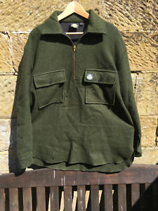 Swanndri Ranger Shirt, green pullover with lining and two chest pockets