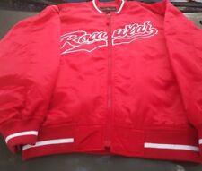 red VINTAGE ROCAWEAR zip UP MEN SATIN JACKET SIZE m 25x30 roca wear red white