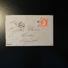 FRANCE NAPOLÉON NO.17A ON LETTER COVER STAR FULL PARIS FOR COSNE