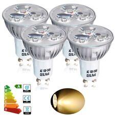 4PCS GU10 4W LED Bulbs Spot Light SMD Spotlight Warm White Energy Saving Lamp UK