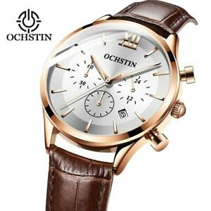 Relogio Masculino Men Watches Top Brand Luxury Watch For Men Waterproof Leather