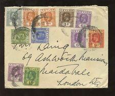 George V (1910-1936) Cover Ceylon Stamps